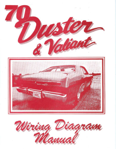 1970 70 Plymouth Duster  Valiant Wiring Diagram Car Manuals  U0026 Literature Other Car Manuals