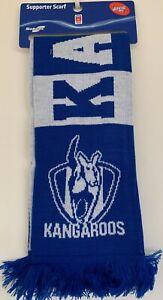 OFFICIAL-AFL-NORTH-MELBOURNE-KANGAROOS-Banner-Jacquard-Scarf