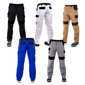 UK-NEW-Mens-Work-Trousers-Heavy-Duty-Pants-Knee-Pad-Cargo-Combat-Multi-Pocket