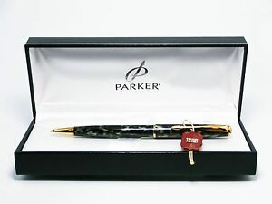 Parker sonnet lacuer GT black and grey ballpen in parker gift box