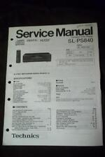 Technics Service Manual for the SL-PS840 CD Changer Player