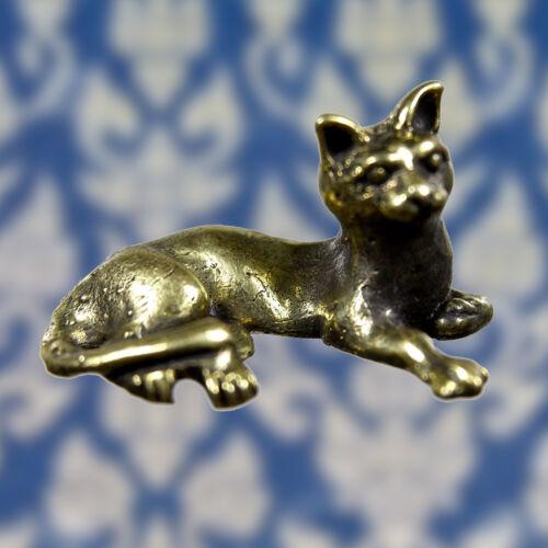 Miniature Lucky Cat Hunting Money Thai Amulet Wealth Magic Talisman Powerful FS