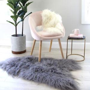 Grey icelandic Sheepskin Rug