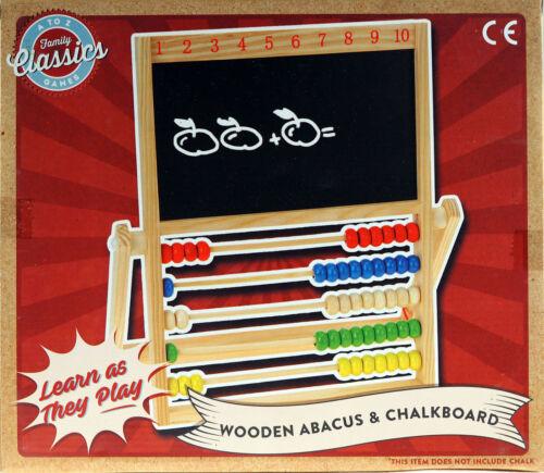 En bois Boulier et Chalk Board-Toddlers Learning Toy