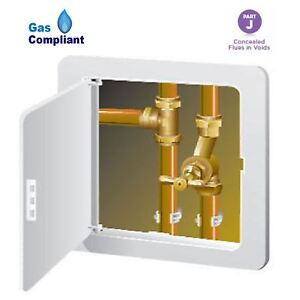 Large-Access-Panel-Inspection-Hatch-Hinged-305-x-305mm-Gas-Safe-Pipes-Flue