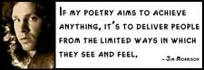 Wall Quote - JIM MORRISON - If my poetry aims to achieve anything, it's to deliv