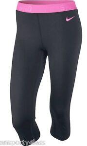Cool Nike Pro Dry Fit Tight Training Pants Women  Black White Buy Online