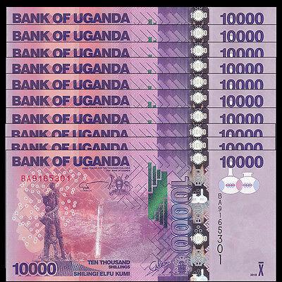 2015 P-NEW 52d Shillings UNC 10,000 2016 Uganda 10000