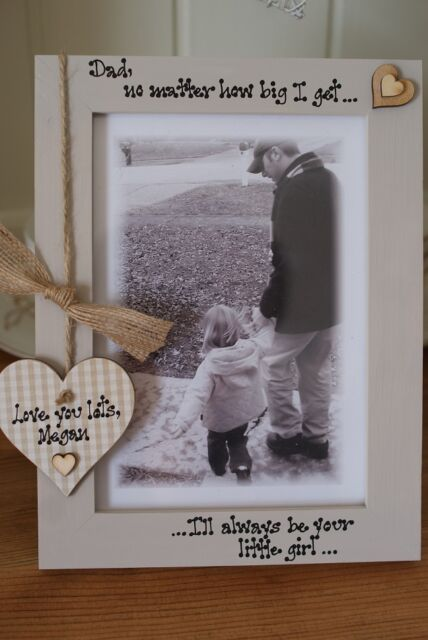 Personalised Father/'s Day Photo Frame  Fathers Day Gift King Daddy