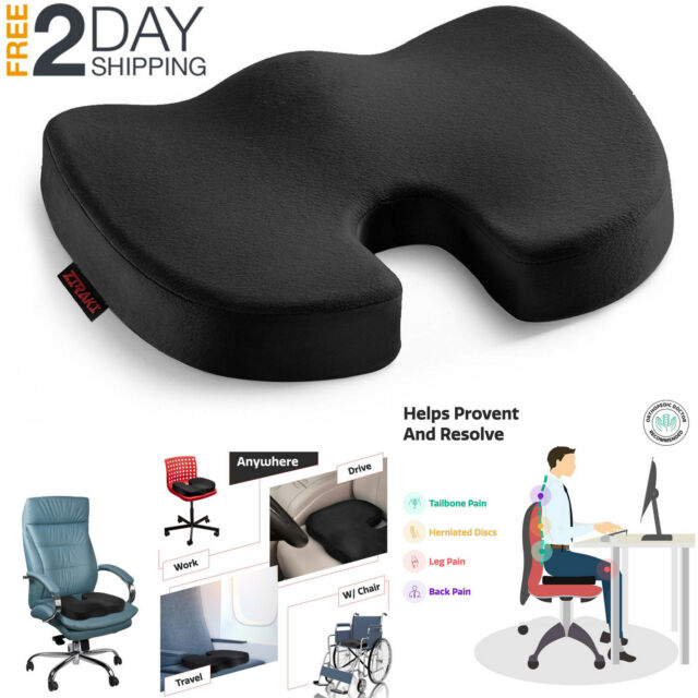 Everlasting Comfort 100 Pure Memory Foam Luxury Seat Cushion Orthopedic Design