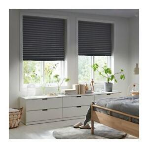 Detalles de 2 x salida de Ikea SCHOTTIS bloque Plisada ciego, cubiertas de ventana gris oscuro 100x190cm Pup ver título original