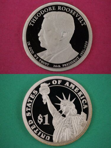 2013 S Proof Teddy Roosevelt Presidential Dollar Deep Cameo Flat Rate Shipping