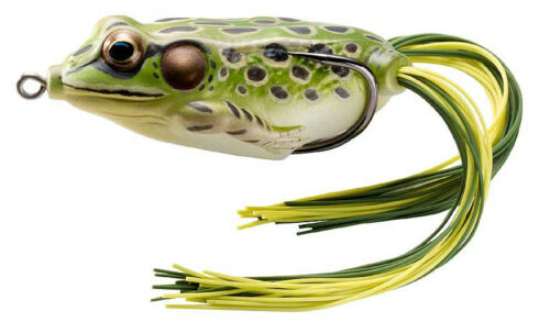 """Livetarget Hollow Body Frog 65 2 5//8/"""" Topwater Frog Bass Fishing Bait 12 Colors"""