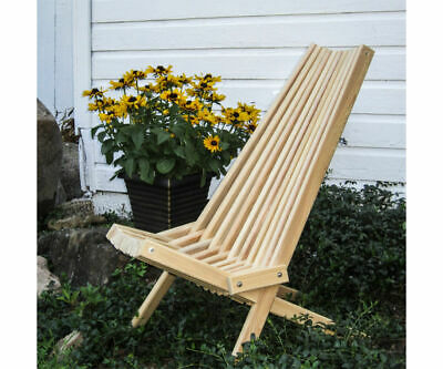 Modern Treated Cypress Outdoor Patio Chair Cricket Amish Made Mid Century Style!  | eBay