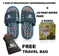 Foot Massager Slipper Acupressure Foot Reflexology + 20 Kinoki Detox Foot Patch
