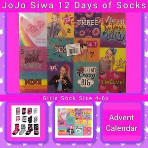 65217617c70 Nickelodeon JoJo Siwa, 12 Days Of Socks, Advent Calendar, Girls ...