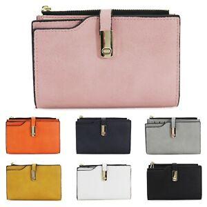 Ladies-Bifold-Clutch-Bag-Women-039-s-Messenger-Multiple-Card-Slots-Wallet-Purse-New