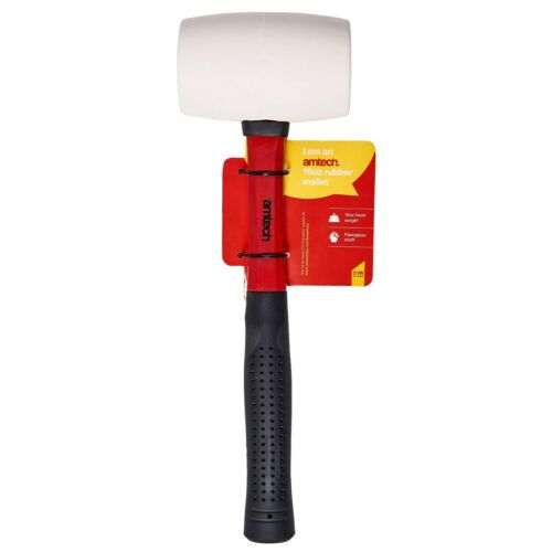 16oz Rubber Mallet White Face Head Camping DIY Non Marking Glazing Woodwork