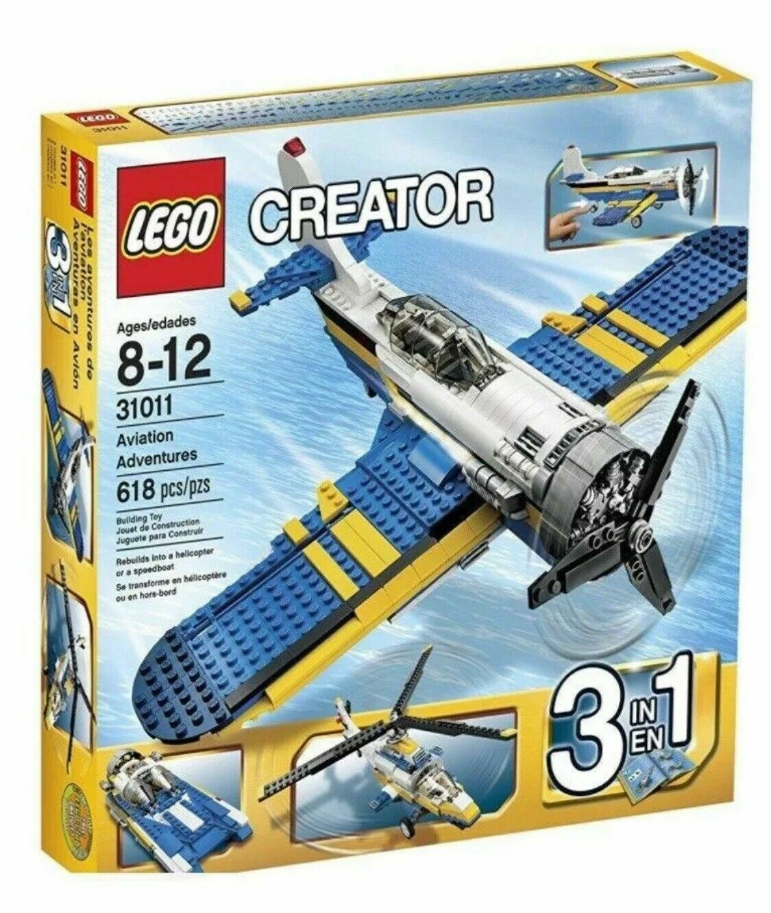 LEGO Creator 31011 Aviation Adventure Air Crafts 3 in 1 Set.  NEW IN BOX