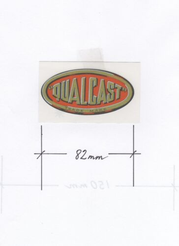 Qualcast Vintage Mower Oval Handle Bar Repro Decal