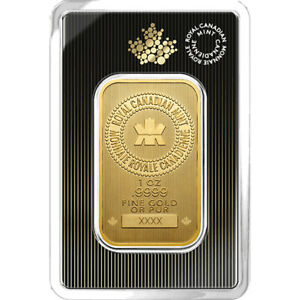 1-oz-2019-Gold-Bar-RCM-9999-Gold-New-Design-in-Assay-Royal-Canadian-Mint