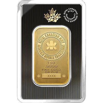 1 oz Gold Bar RCM - New Design in Assay - Royal Canadian Mint