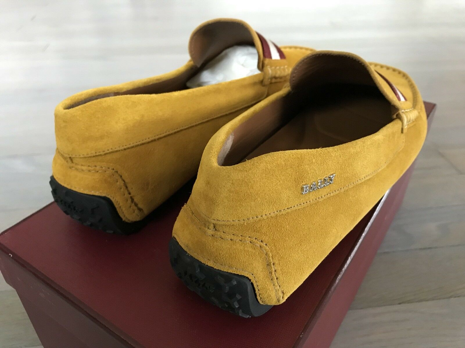 550  Bally Pearce Pearce Pearce Mustard Suede Driver Size US 12 Made in Italy bfd09f