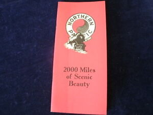 Vintage 1928 Northern Pacific Railroad 2000 Miles of Scenic Beauty Brochure R205