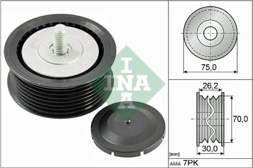Aux Belt Idler Pulley fits PORSCHE CAYENNE 9PA 4.5 02 to 07 Guide Deflection INA