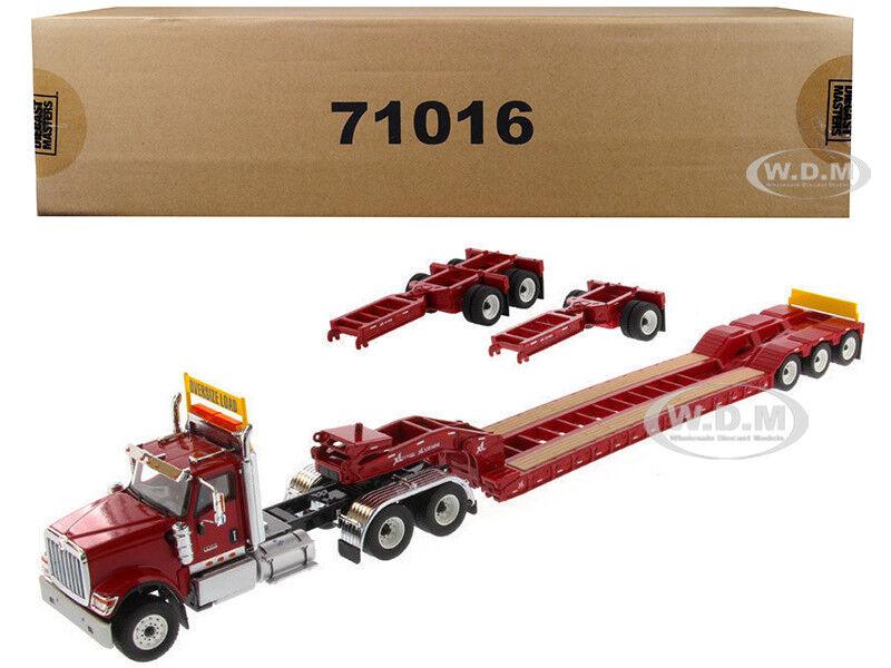 INTERNATIONAL HX520 rosso XL 120 LOWBOY TRAILER 1/50 BY DIECAST MASTERS 71016