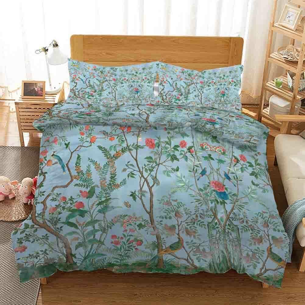 A lila Nice Twig 3D Druckening Duvet Quilt Will Startseites Pillow Case Bettding Sets