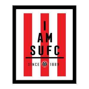 PerséVéRant Sheffield United F.c - Personnalisé Imprimé (i Am)-afficher Le Titre D'origine