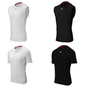 Mizuno Men s Biogear Compression Shirt White or Black Baseball ... 68291aab321a