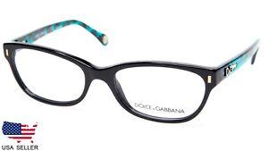 706f547d40 NEW D G Dolce Gabbana DD 1205 1826 BLACK EYEGLASSES GLASSES 52-17 ...