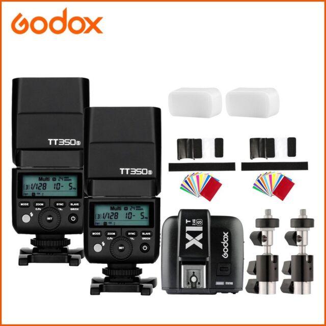 2x Godox Mini TT350S 2.4G TTL Camera Flash Speedlite+X1T-S for Sony SLR Camera