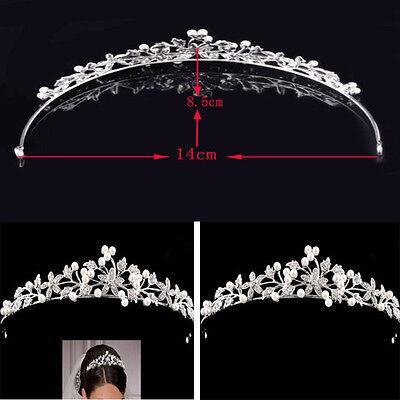Sinnvoll Blume Kristall Braut Haarschmuck Haarband Haarreif Krone Diademe Tiara Diademe Angenehme SüßE