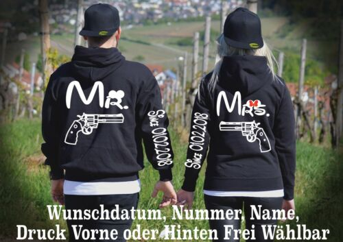 Partner One Pärchen Love New Top Mr Pullover 5xl Motiv Hoodie Look Mrs 2stk Xs nPBq16WI