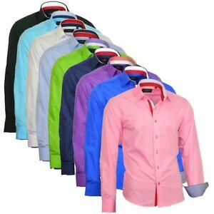 Herrenhemd-Herren-Hemd-Hemden-Shirt-Kentkragen-Langarm-827-Binder-de-Luxe