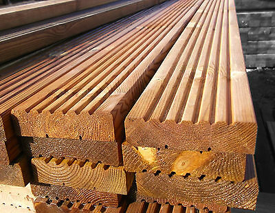 Pack of 10 2.4m Decking Boards High Quality Wooden//Timber 120mm X 28mm