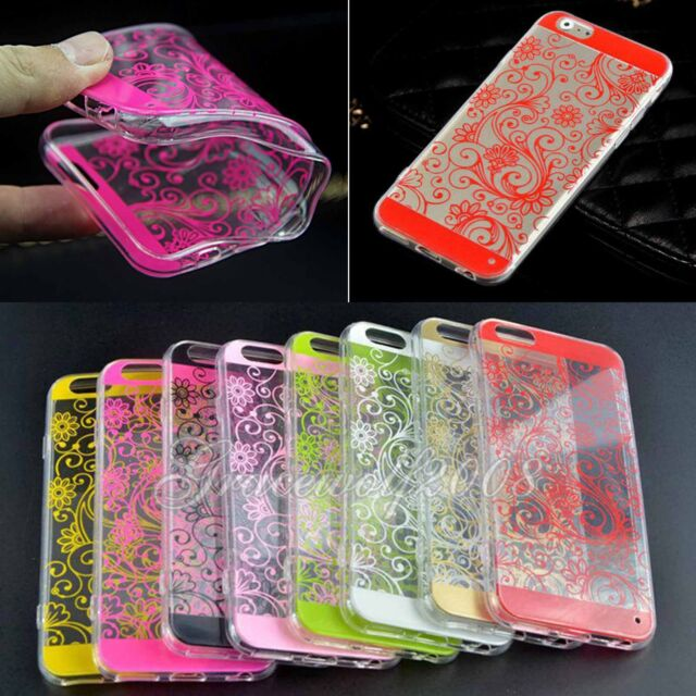 Hot Colorful Ultrathin TPU Protective Lucky Flower Case Cover for iPhone 6 4.7''