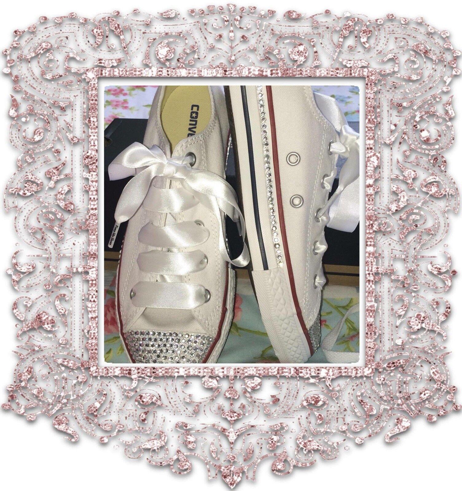 Personalizado Personalizado Personalizado Bling Cristal Diamanté lo Converse Talla 3-8 bodas Bridesmaids Nuevo  te hará satisfecho