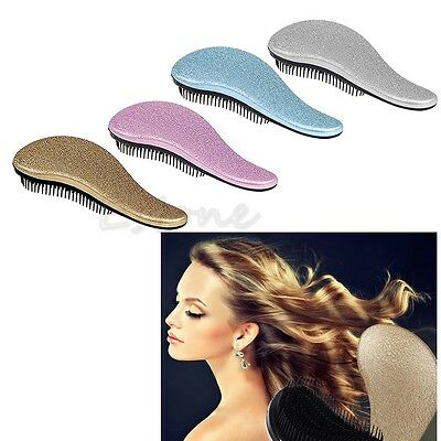 1x Magic Handle Tangle Detangling Comb Shower Hair Brush Styling Salon Tamer New