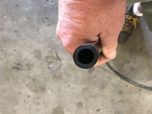 "1//2/"" x 10/' RUBBER Air Whip Lead In Jumper Hose Black 300 PSI Fiber Reinforced"