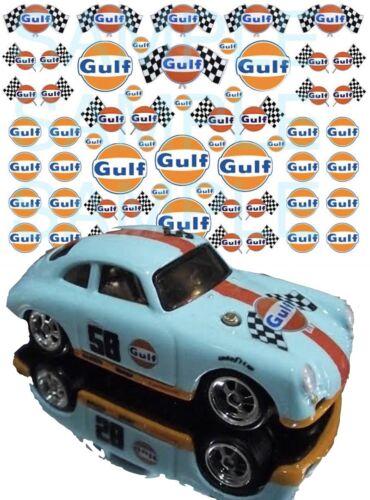 MATCHBOX Gulf 1:64 WATER-SLIDE DECALS FOR HOT WHEELS SLOT CAR