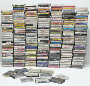 Vintage-Country-Music-Audio-Cassette-Tape-Lot-Of-246-Store-Bought-Tapes-Original