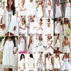 Sexy Damen Sommerkleid Strandkleid Cocktailkleid Partykleid Mini Kleider Weiß