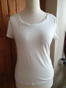 M-amp-S-Per-Una-Cream-T-Shirt-Size-16-BNWT
