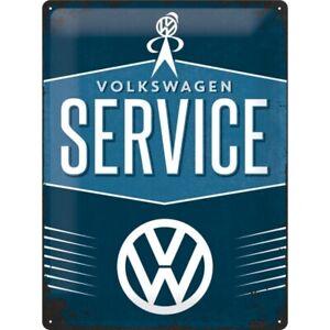 Blechschild-VW-Service-Volkswagen-Nostalgie-Schild-40-cm-NEU-metal-shield