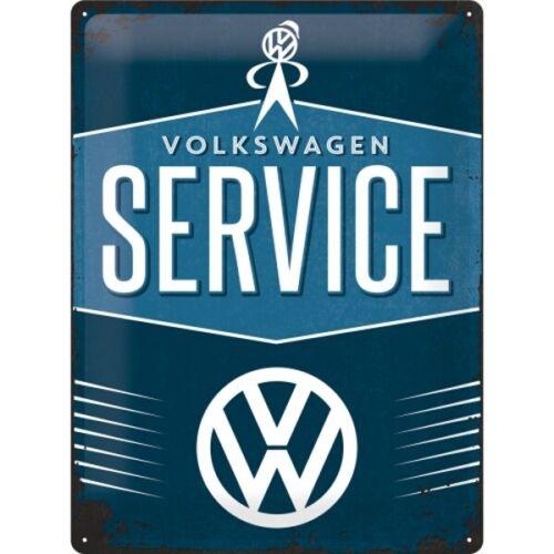NEU,metal shield Blechschild VW Service Volkswagen,Nostalgie Schild 40 cm