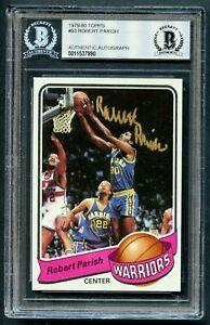 Robert-Parish-93-signed-autograph-1979-80-Topps-Basketball-Card-BAS-Slabbed